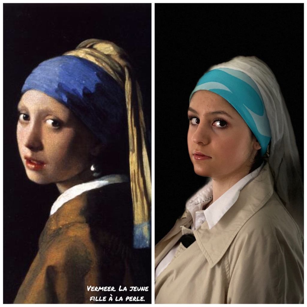 Girl with the pearl earring by J. Veermer and Cloé, 1665