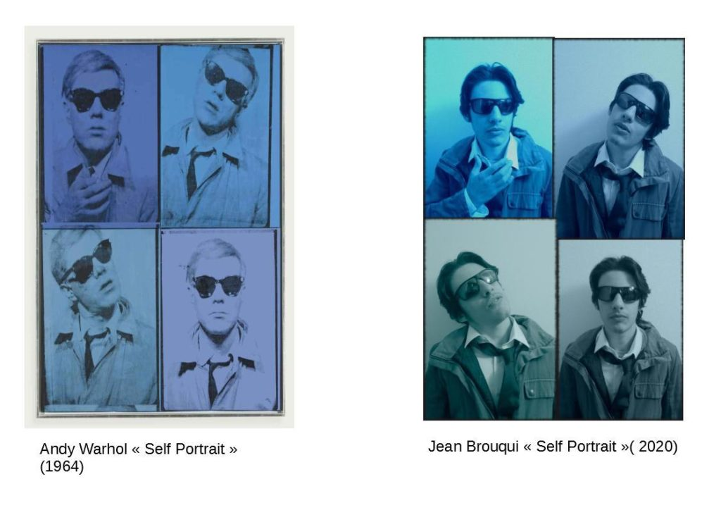Self Portrait by Andy Warhol and Jean, 1964