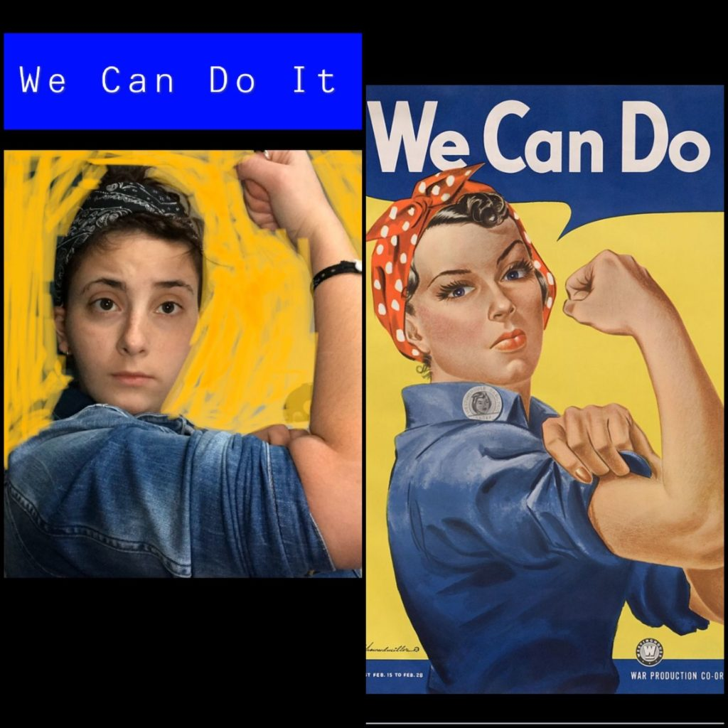 We can do it! by J. Howard Miller and Camille,1943